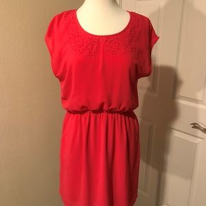 Hot Pink miami Dress with Pockets